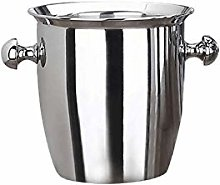 SJYDQ Stainless Steel Thickened Ice Bucket Wine