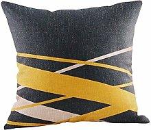 SJYS Mustard Pillow Case Yellow Geometric Fall