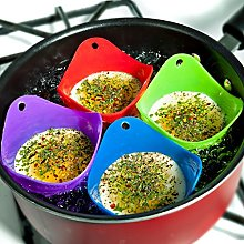 SK Pro Style 4PCS Egg Poacher Silicone Cooking