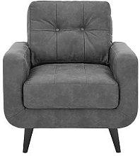 Skandi Faux Leather Armchair