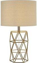 Skandi Geometric Table Lamp In Gold