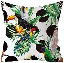 Skang Cushion Covers 45cm X 45cm - Tropical Green