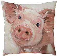 Skang Cute cow pig dog 45x45cm animal pattern