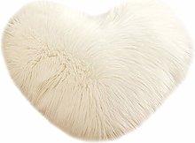 Skang Heart-shaped pillow pillow solid color plush
