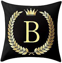 Skang Pillowcase black and gold letter 45x45 cm