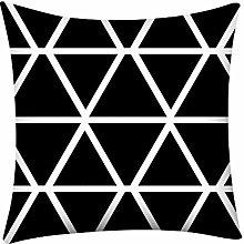 Skang Print casual geometric stripes 45X45cm black