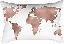 Skang Rose gold pink eye map pattern cushion set