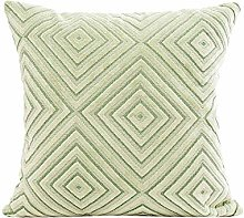 Skang Square geometric linen blend 45X45cm solid