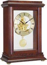 Skeleton Pendulum Mantel Clock - Mahogany - 07074