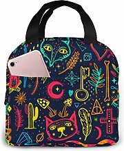Sketch Graphic Lunch Bag Reusable Lunch Box Lunch