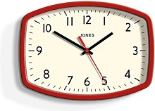 Sketch Wall Clock Jones Clocks Colour: Red