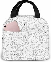 Sketchy Guinea Pigs Lunch Bag for Women Girls Kids