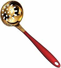 Skimmer Slotted Spoon Steel Round Colander Slotted