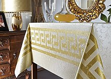 Skippys Gold Border Cream Wipe Clean Tablecloth