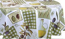 Skippys Green Olives Wipe Clean Tablecloth Easy