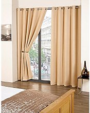 Skippys Kalli Eyelet Beige Curtains Blackout