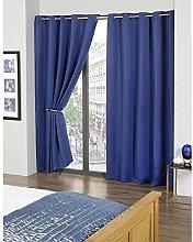 Skippys Kalli Eyelet Blue Curtains Blackout