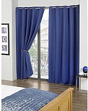 Skippys Kalli Eyelet Blue Curtains Blackout