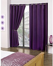 Skippys Kalli Eyelet Purple Curtains Blackout