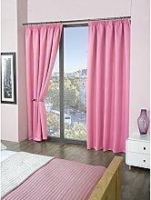 Skippys Kalli Pink Curtains Pencil Pleat Tape Top