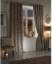 Skippys Moda Velvet Touch Lined Rin top Curtains