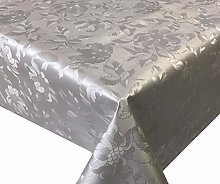 Skippys Oilcloth Grey Tablecloth Wipe Clean Pvc