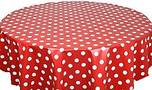Skippys Red Polka Dot Wipe Clean Tablecloth Easy
