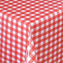 Skippys Red White Oilcloth Wipe Clean Tablecloth