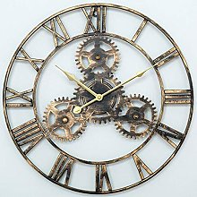 SKJIND Steampunk Large Metal Wall Clock Roman