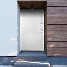 SKM Aluminium Front Door White 100x200 cm-9695