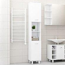 SKM Bathroom Cabinet White 30x30x179 cm Chipboard