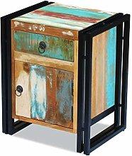 SKM Bedside Cabinet Solid Reclaimed Wood-3278