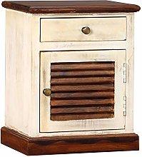 SKM Bedside Cabinet Solid Sheesham Mango Wood