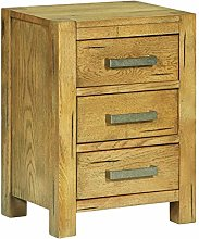 SKM Bedside Cabinet with 3 Drawers 40x30x54 cm