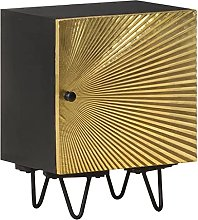 SKM Bedside Cabinet with Brass Front 40x30x50 cm