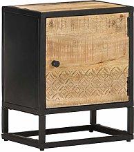 SKM Bedside Cabinet with Carved Door 40x30x50 cm