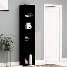 SKM Book Cabinet Black 40x30x189 cm Chipboard