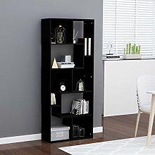 SKM Book Cabinet Black 67x24x161 cm Chipboard