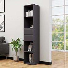 SKM Book Cabinet Grey 36x30x171 cm Chipboard