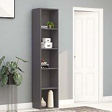 SKM Book Cabinet Grey 40x30x189 cm Chipboard