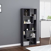 SKM Book Cabinet Grey 67x24x161 cm Chipboard