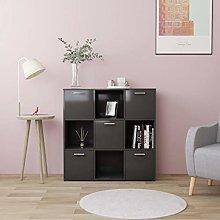SKM Book Cabinet Grey 90x30x90 cm Chipboard