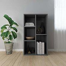 SKM Book Cabinet/Sideboard High Gloss Grey