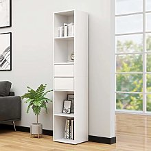 SKM Book Cabinet White 36x30x171 cm Chipboard