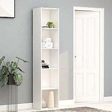 SKM Book Cabinet White 40x30x189 cm Chipboard