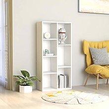 SKM Book Cabinet White 50x25x106 cm Chipboard