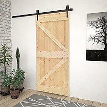 SKM Door 80x210 cm Solid Pine Wood
