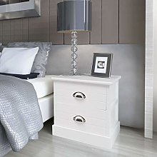 SKM French Bedside Cabinet White
