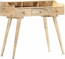 SKM Secretary Desk 90x45x86 cm Solid Mango Wood