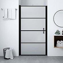 SKM Shower Door Frost Tempered Glass 100x178 cm